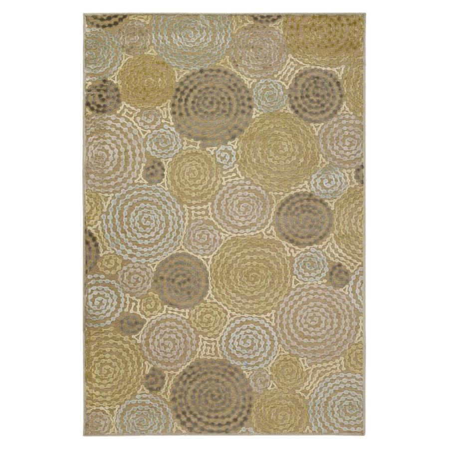 Surya Basilica Tan Rectangular Indoor Machine-Made Throw Rug (Common: 2 x 3; Actual: 2.166-ft W x 3-ft L)