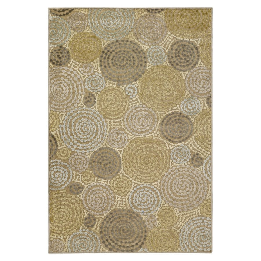 Surya Basilica Tan Rectangular Indoor Machine-Made Area Rug (Common: 8 x 11; Actual: 7.5-ft W x 10.5-ft L)