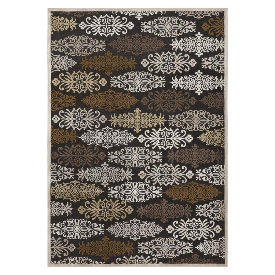 Surya Basilica Chocolate Rectangular Indoor Machine-Made Area Rug (Common: 5 x 8; Actual: 5.166-ft W x 7.5-ft L)