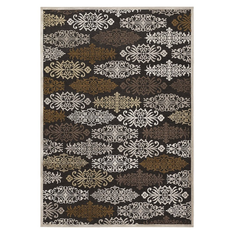 Surya Basilica Chocolate Rectangular Indoor Machine-Made Area Rug (Common: 8 x 11; Actual: 7.5-ft W x 10.5-ft L)