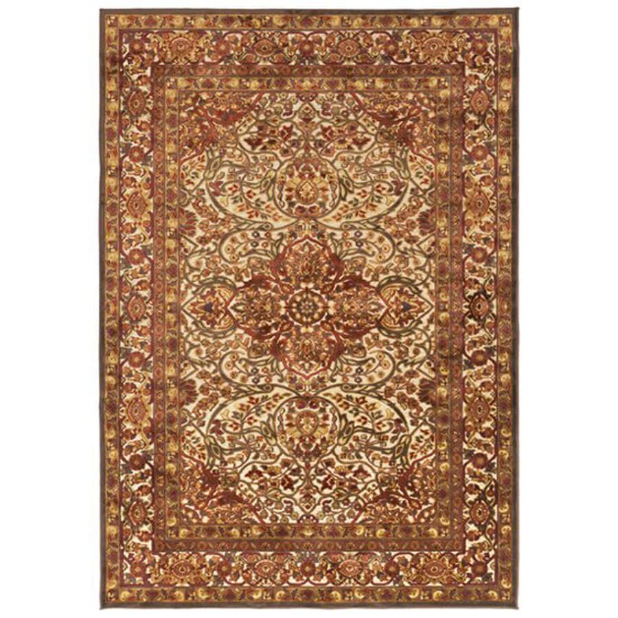 Surya Basilica Gray Rectangular Indoor Machine-Made Oriental Area Rug (Common: 5 x 8; Actual: 5.166-ft W x 7.5-ft L)