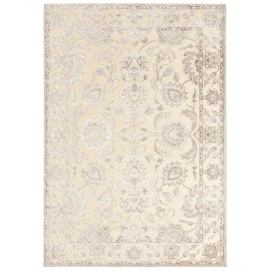 Surya Basilica Beige Rectangular Indoor Machine-Made Distressed Area Rug (Common: 5 x 8; Actual: 5.166-ft W x 7.5-ft L)