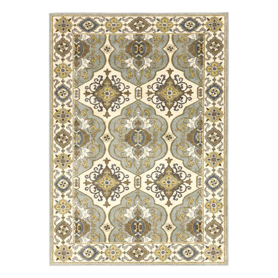 Surya Monterey Beige Rectangular Indoor Machine-Made Oriental Area Rug (Common: 5-ft x 8-ft; Actual: 5-ft 3-in W x 7-ft 6-in L)