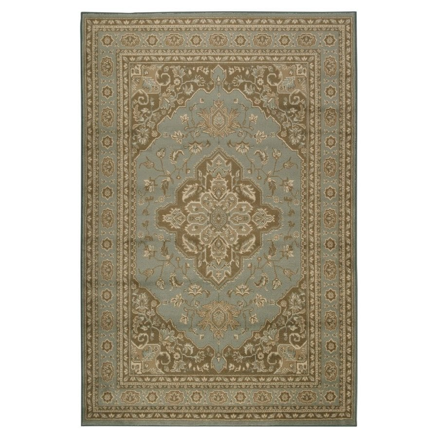 Surya Paramount Aqua Rectangular Indoor Machine-Made Oriental Area Rug (Common: 5-ft x 8-ft; Actual: 5-ft 3-in W x 7-ft 6-in L)