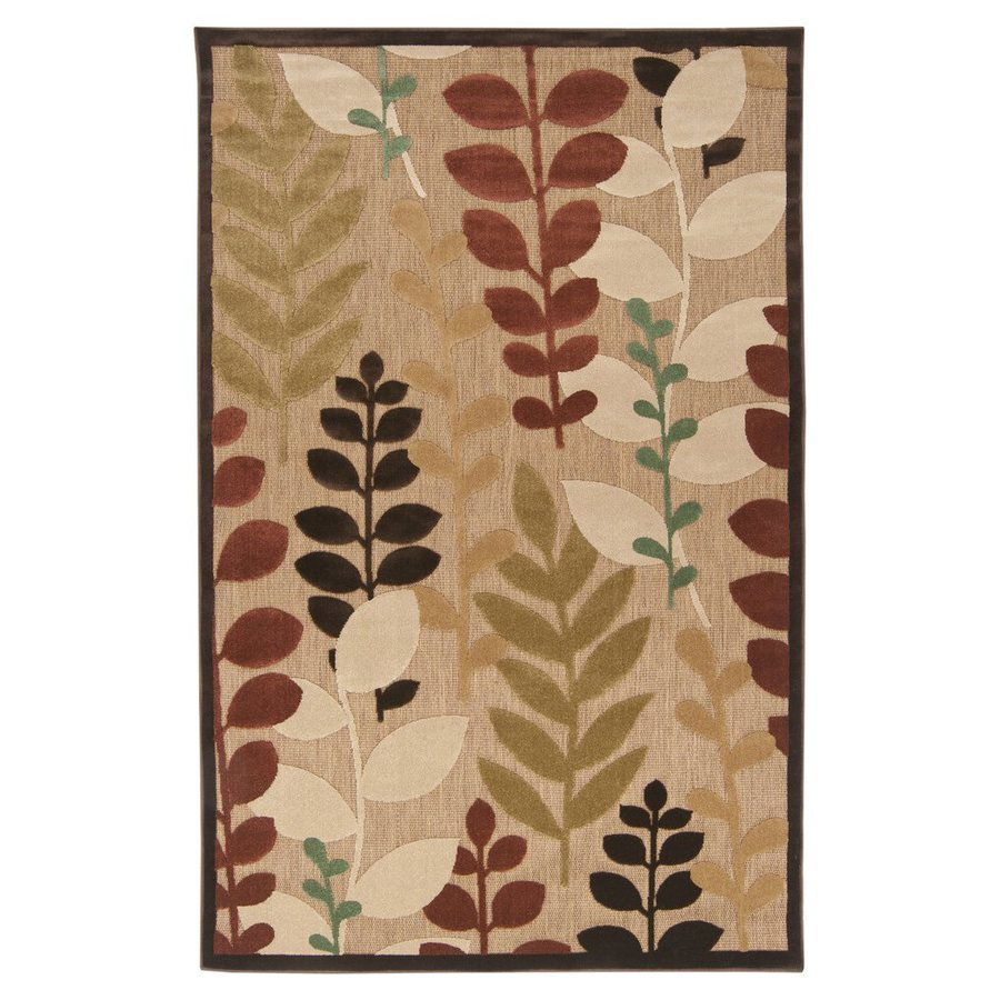 Surya Portera Multi Rectangular Indoor/Outdoor Machine-Made Nature Area Rug (Common: 5 x 8; Actual: 60-in W x 90-in L)