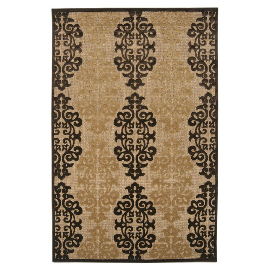 Surya Portera Brown Rectangular Indoor/Outdoor Machine-Made Area Rug (Common: 5 x 8; Actual: 5-ft W x 7.5-ft L)