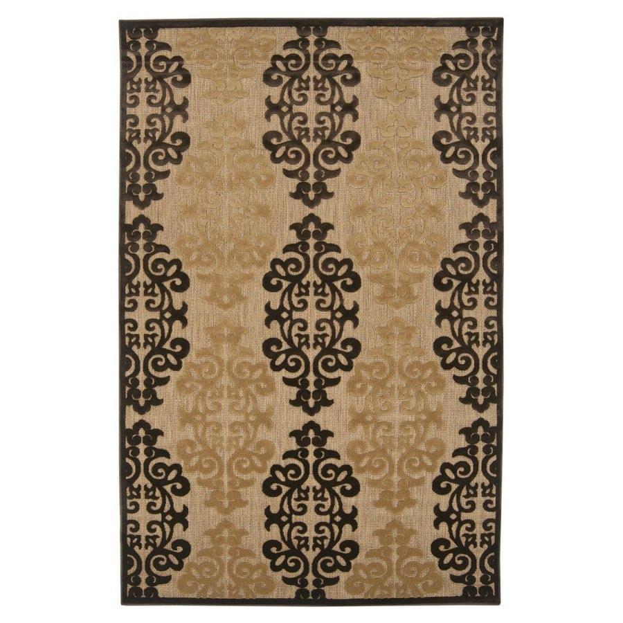 Surya Portera Brown Rectangular Indoor/Outdoor Machine-Made Area Rug (Common: 8 x 11; Actual: 7.833-ft W x 10.666-ft L)