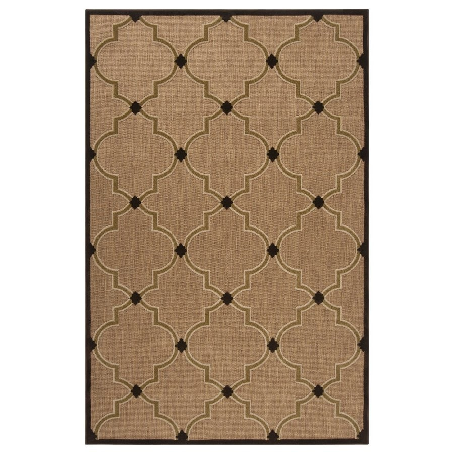 Surya Portera Brown Rectangular Indoor/Outdoor Machine-Made Moroccan Area Rug (Common: 5 x 8; Actual: 60-in W x 90-in L)