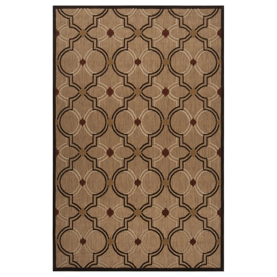 Surya Portera Brown Rectangular Indoor/Outdoor Machine-Made Moroccan Area Rug (Common: 5 x 8; Actual: 5-ft W x 7.5-ft L)