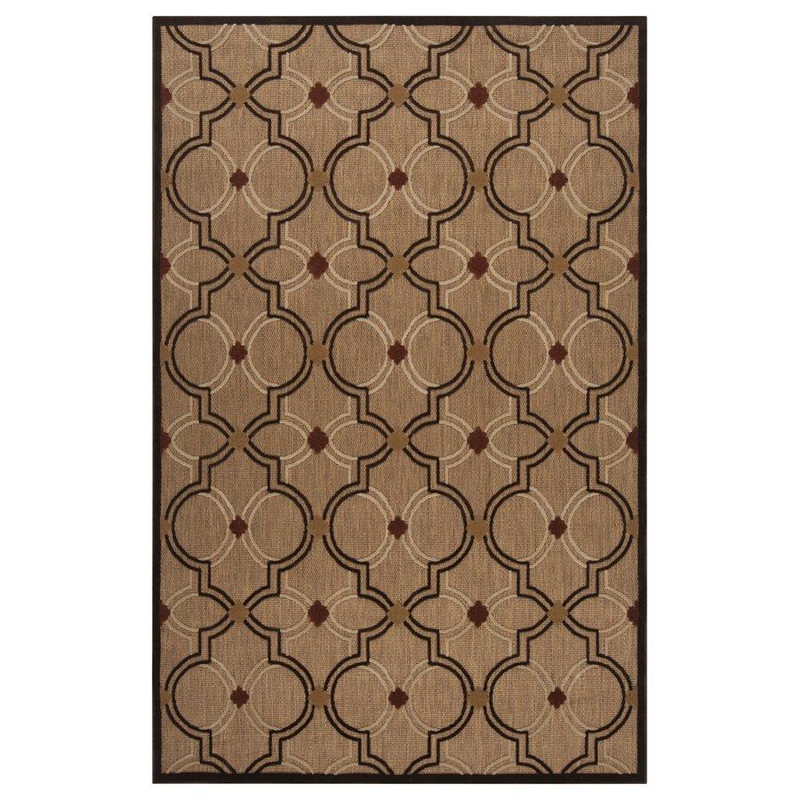 Surya Portera Brown Rectangular Indoor/Outdoor Machine-Made Moroccan Area Rug (Common: 8 x 11; Actual: 7.833-ft W x 10.666-ft L)