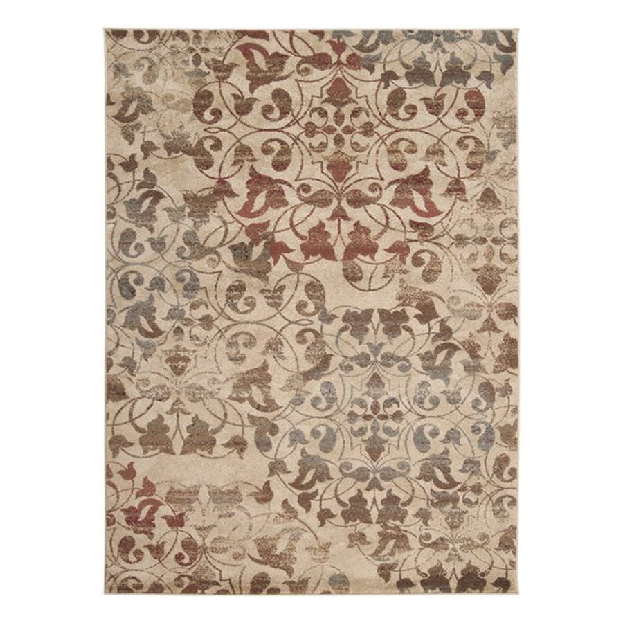 Surya Riley Rectangular Indoor Machine-Made Distressed Area Rug (Common: 5 x 8; Actual: 63-in W x 90-in L)