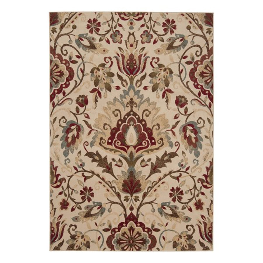Surya Riley Beige Rectangular Indoor Machine-Made Nature Area Rug (Common: 5 x 8; Actual: 5.25-ft W x 7.5-ft L)
