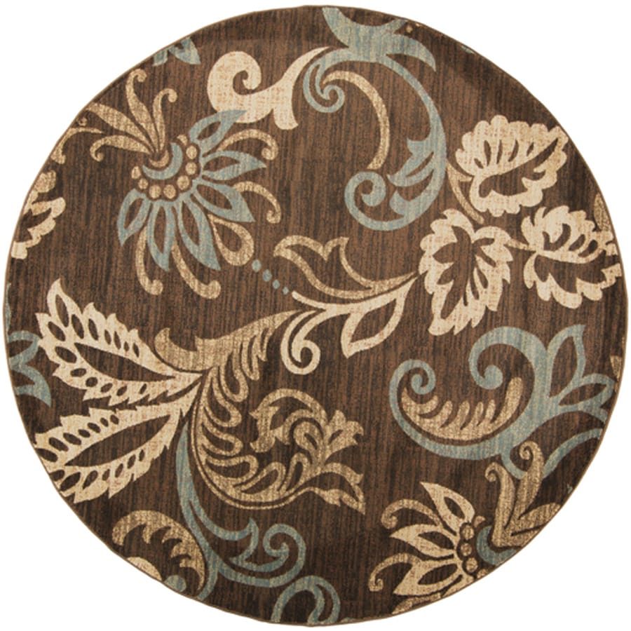 Shop Surya Riley Round Indoor Machine Made Nature Area Rug Actual 8 Ft Dia