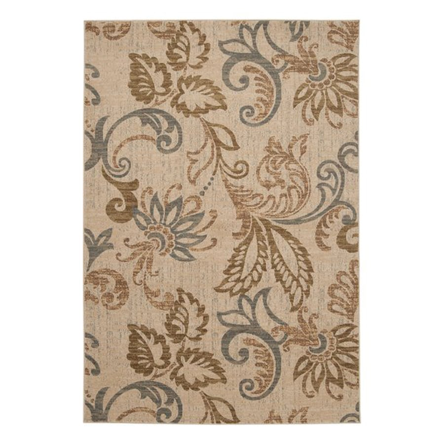 Surya Riley Rectangular Indoor Machine-Made Nature Area Rug (Common: 5 x 8; Actual: 5.25-ft W x 7.5-ft L)