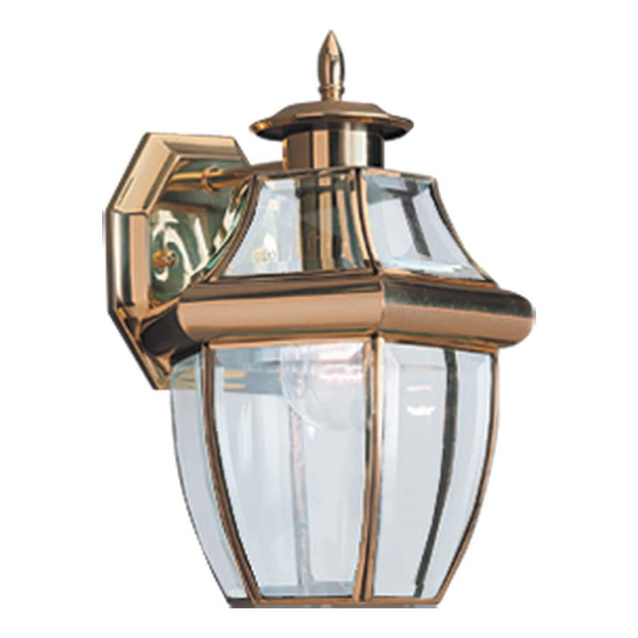 Sea Gull Lighting Lancaster 12-in H Polished Brass Outdoor Wall Light