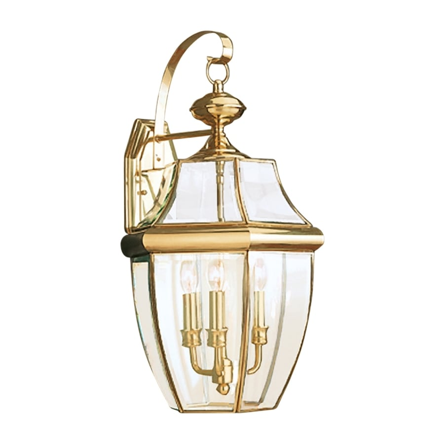 Sea Gull Lighting Lancaster 23-in H Polished Brass Outdoor Wall Light