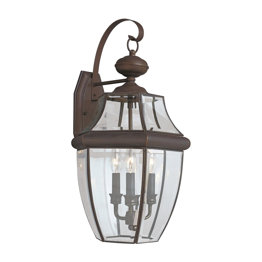 Sea Gull Lighting Lancaster 23-in H Antique Bronze Outdoor Wall Light