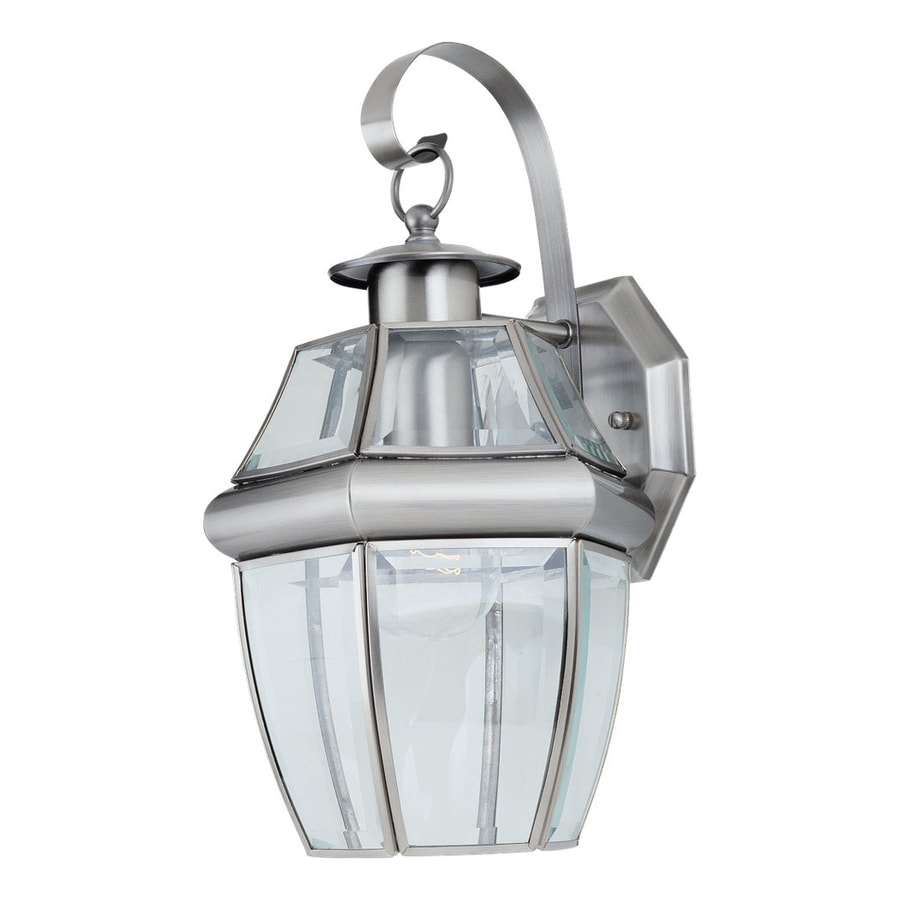 Shop Sea Gull Lighting Lancaster 14-in H Antique Brushed Nickel Outdoor Wall Light at Lowes.com