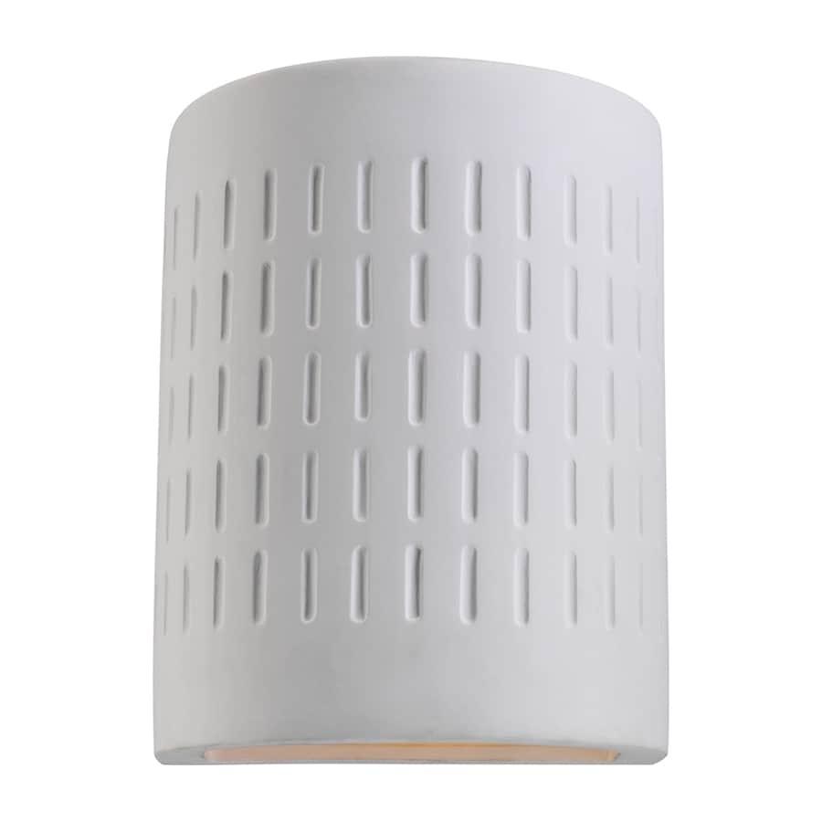 Sea Gull Lighting 10-in H Unfinished Ceramic Dark Sky Outdoor Wall Light