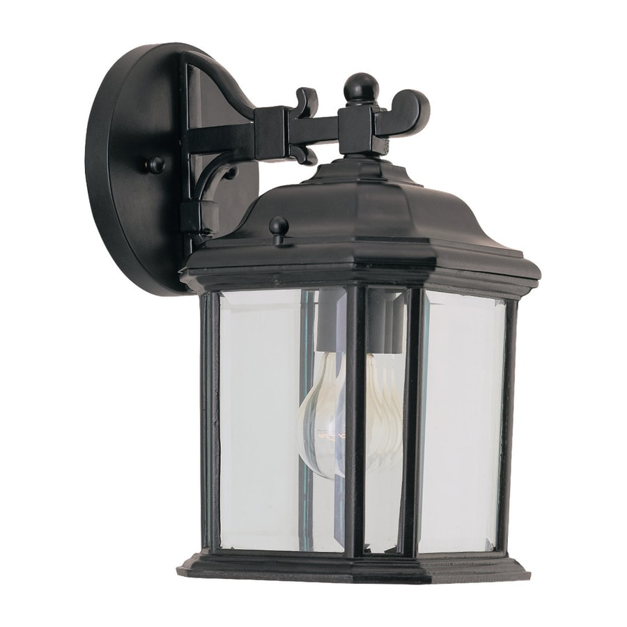 Outside Wall Lights In Black : Shop Sea Gull Lighting Kent 11.5-in H Black Outdoor Wall Light at Lowes.com