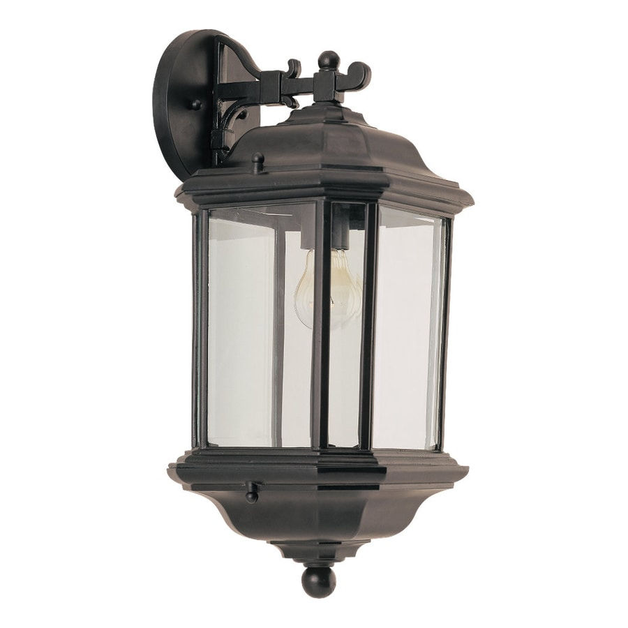 Sea Gull Lighting Kent 19.25-in H Black Outdoor Wall Light