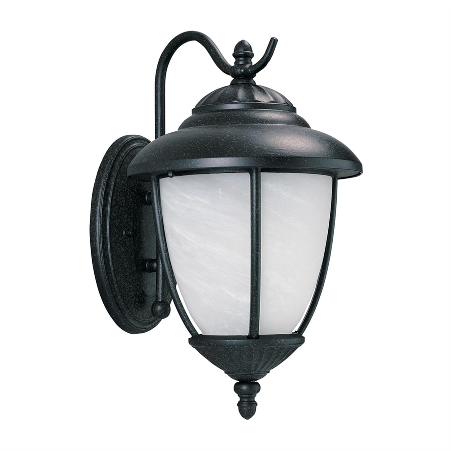Shop Sea Gull Lighting Yorktown 16.25-in H Forged Iron Outdoor Wall Light at Lowes.com