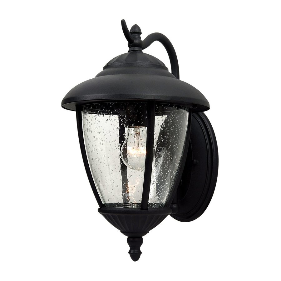 Sea Gull Lighting Lambert Hill 16.25-in H Black Outdoor Wall Light