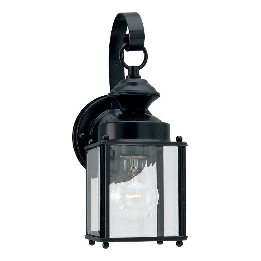 Sea Gull Lighting Jamestowne 11.25-in H Black Outdoor Wall Light