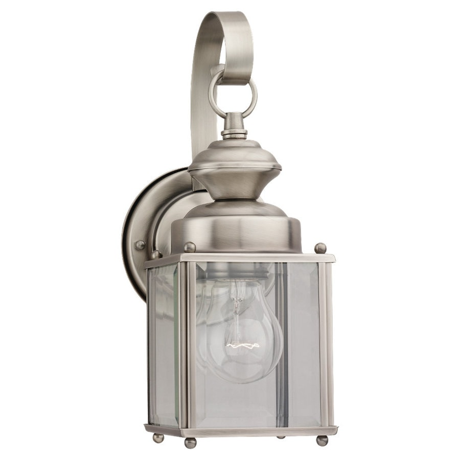 Sea Gull Lighting Jamestowne 11.25-in H Antique Brushed Nickel Outdoor Wall Light