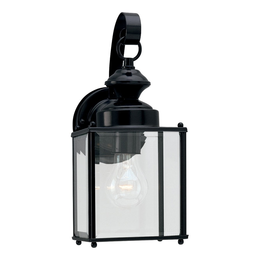 Sea Gull Lighting Jamestowne 12.5-in H Black Outdoor Wall Light