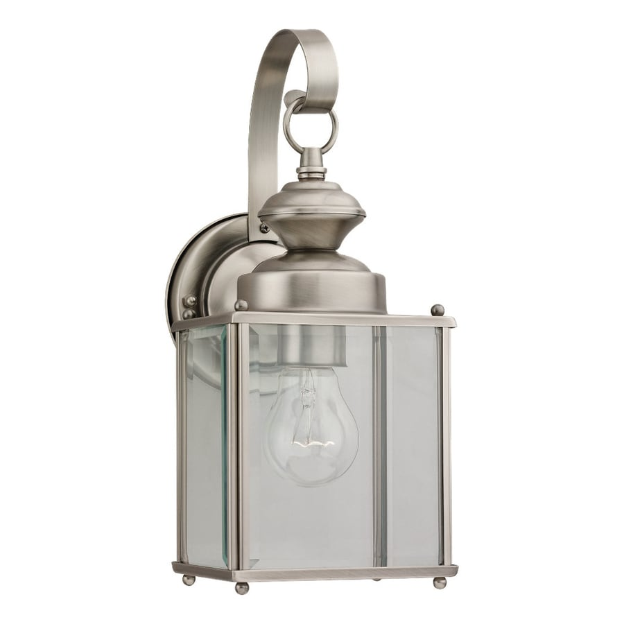 Sea Gull Lighting Jamestowne 12.5-in H Antique Brushed Nickel Outdoor Wall Light