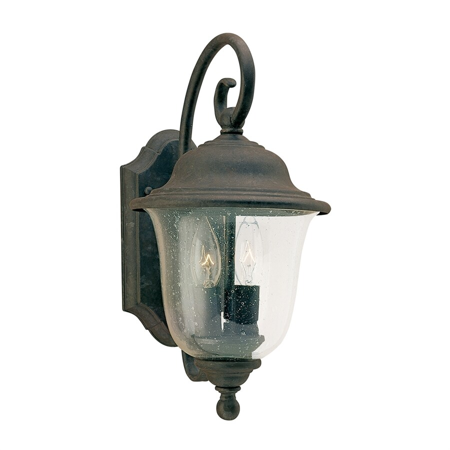 Sea Gull Lighting Trafalgar 14.75-in H Oxidized Bronze Outdoor Wall Light