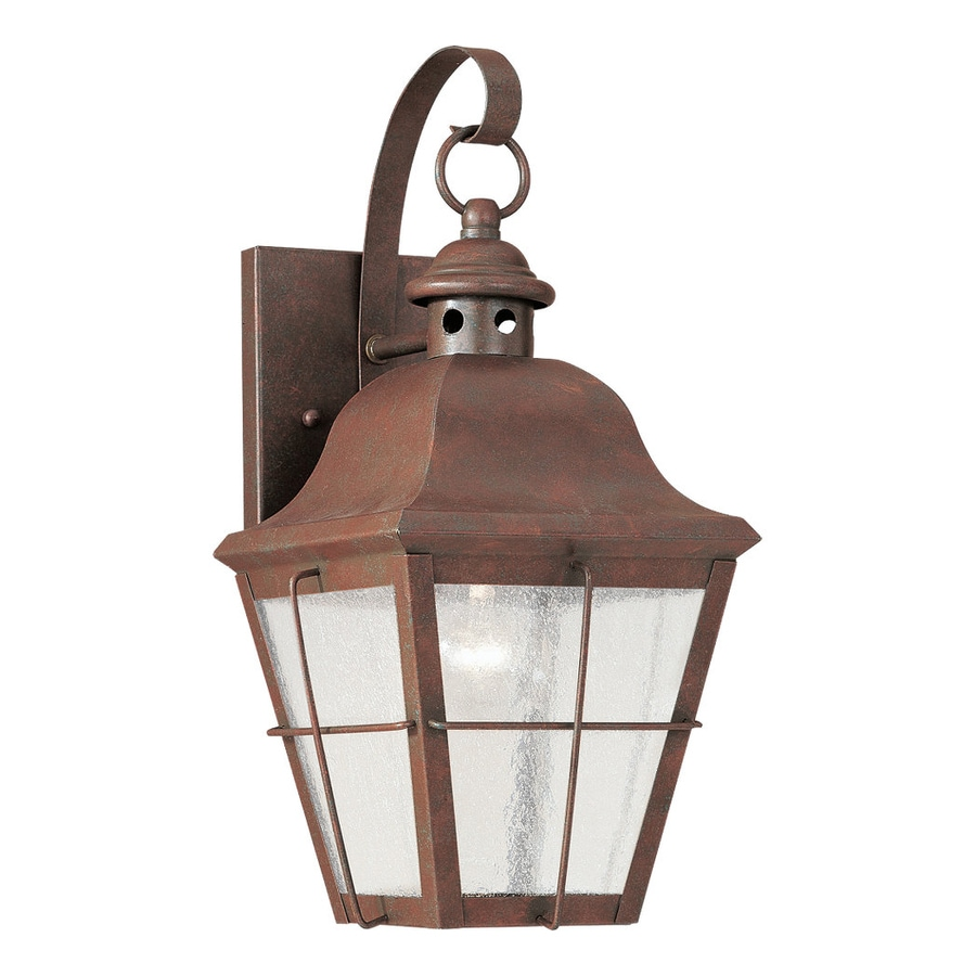 Sea Gull Lighting Chatham 14.5-in H Weathered Copper Outdoor Wall Light