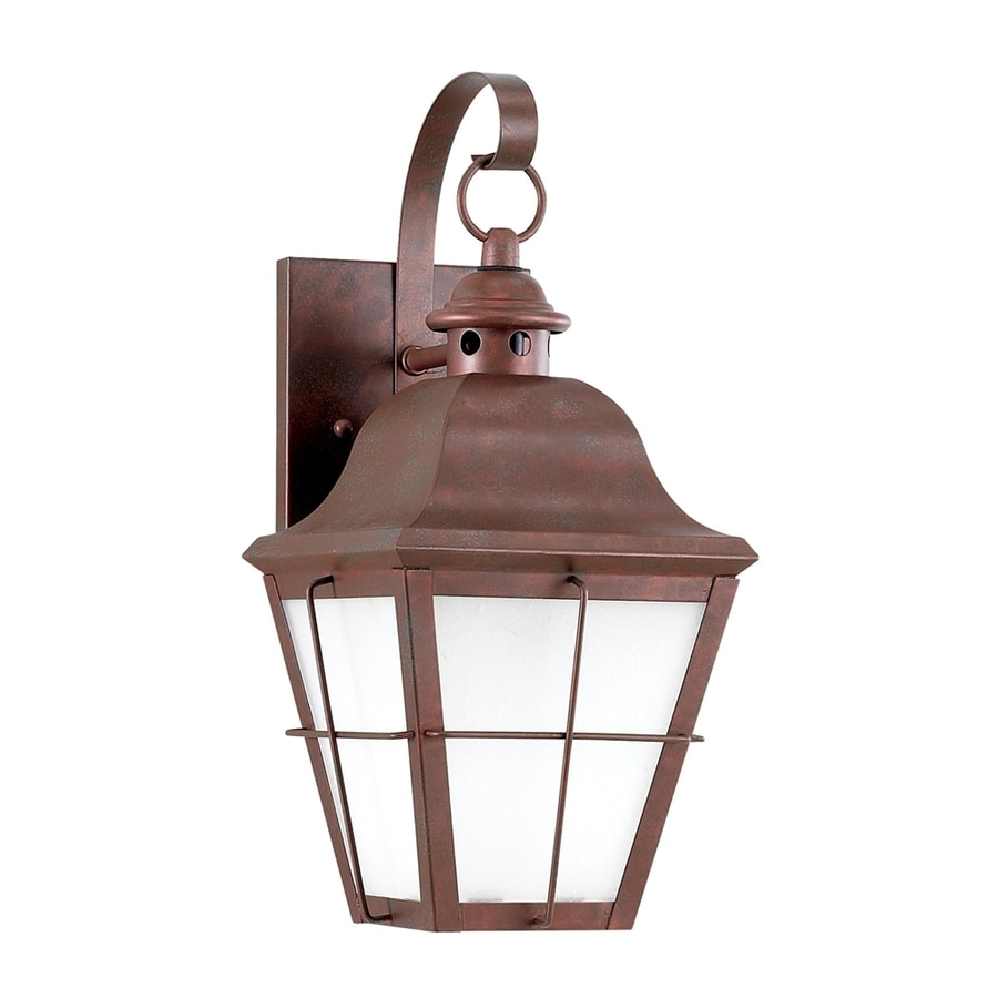 Shop Sea Gull Lighting Chatham 14.5-in H Weathered Copper Dark Sky Outdoor Wall Light at Lowes.com