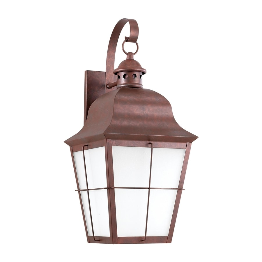 Sea Gull Lighting Chatham 20.75-in H Weathered Copper Dark Sky Outdoor Wall Light