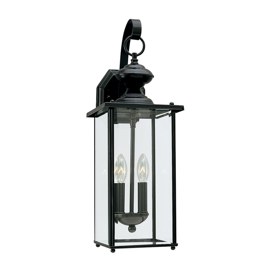 Sea Gull Lighting Jamestowne 20.25-in H Black Outdoor Wall Light