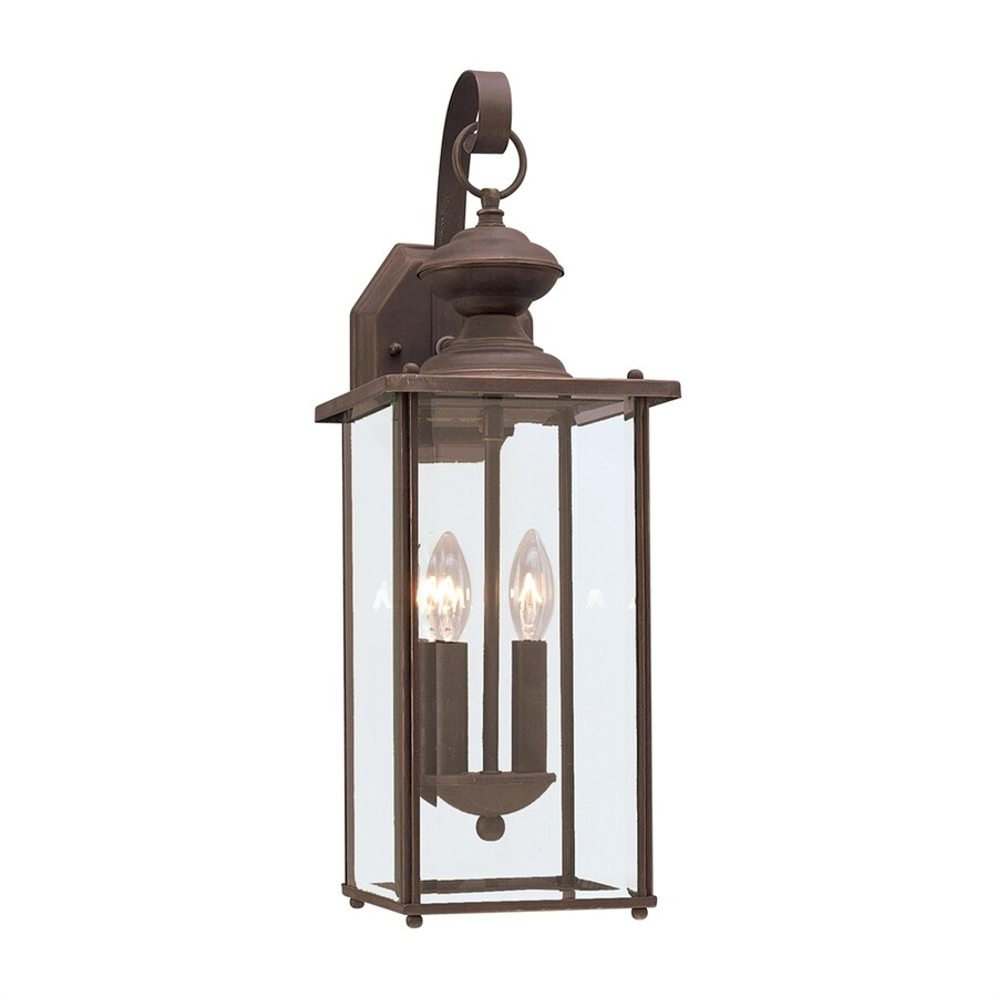 Sea Gull Lighting Jamestowne 20.25-in H Antique Bronze Outdoor Wall Light