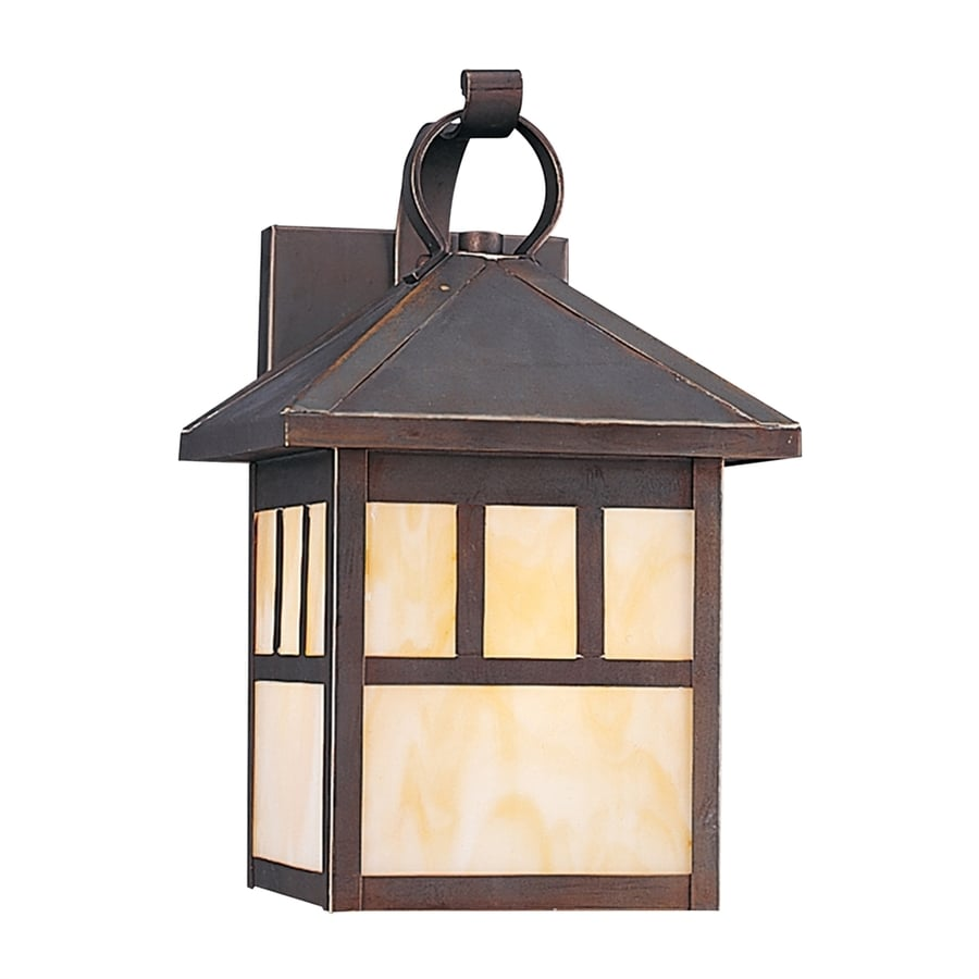 Sea Gull Lighting Prairie Statement 11.25-in H Antique Bronze Outdoor Wall Light
