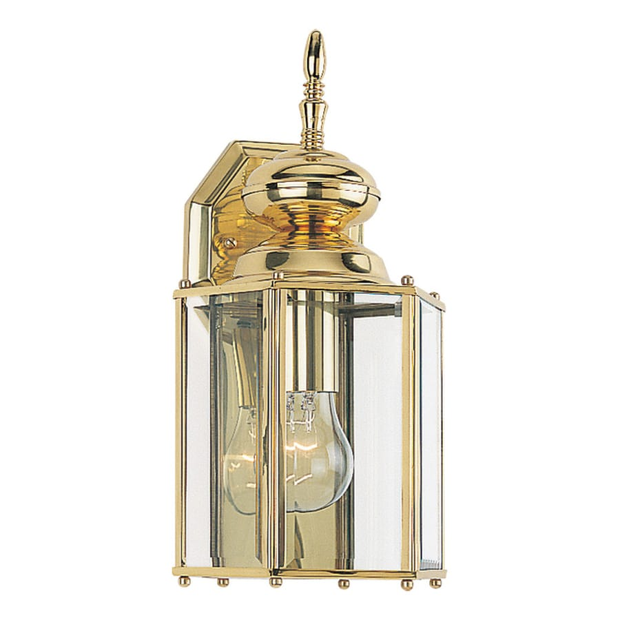 Sea Gull Lighting Classico 12.25-in H Polished Brass Outdoor Wall Light