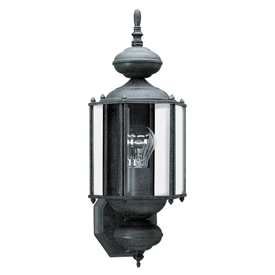 Sea Gull Lighting Classico 25.5-in H Black Outdoor Wall Light