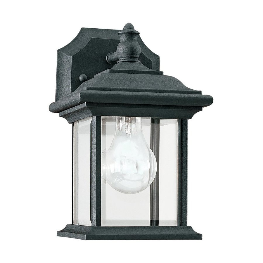 Sea Gull Lighting Wynfield 9.75-in H Black Outdoor Wall Light