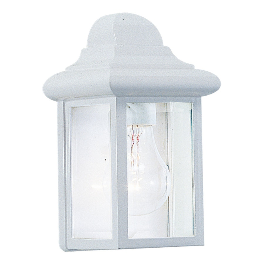 Sea Gull Lighting Mullberry Hill 8.75-in H White Outdoor Wall Light