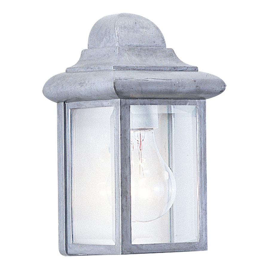 Sea Gull Lighting Mullberry Hill 8.75-in H Pewter Outdoor Wall Light