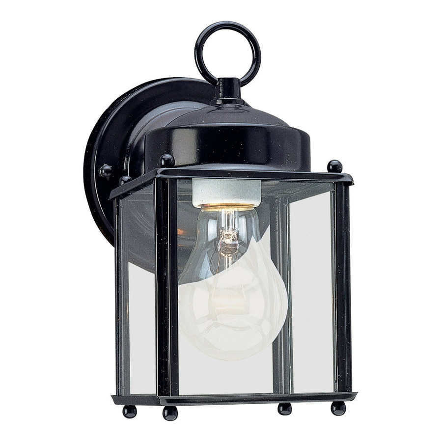 Sea Gull Lighting New Castle 8.25-in H Black Outdoor Wall Light