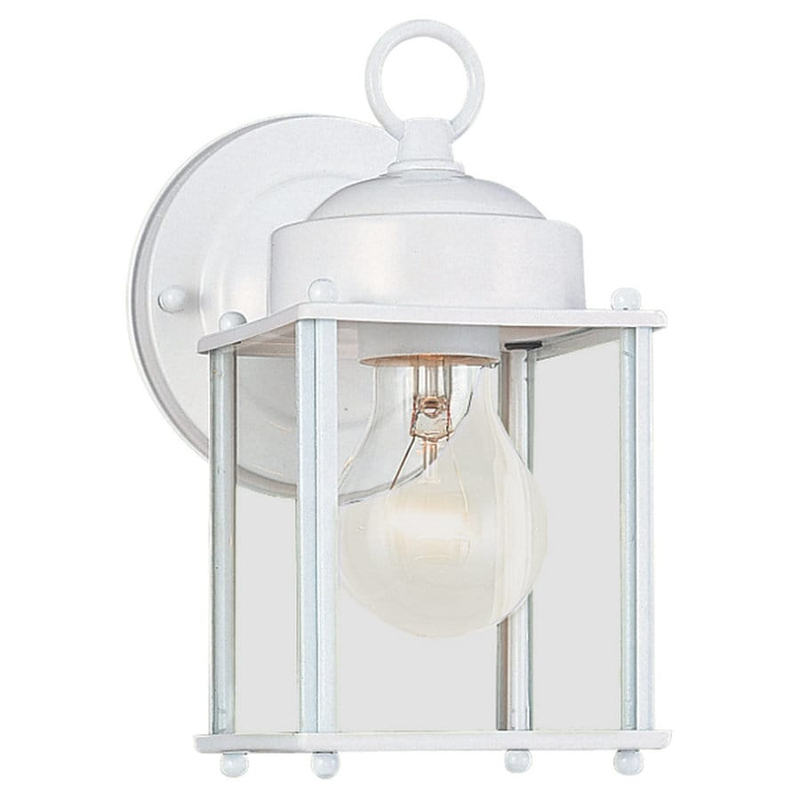 Sea Gull Lighting New Castle 8.25-in H White Outdoor Wall Light
