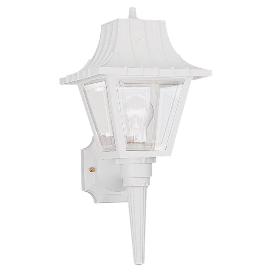 Sea Gull Lighting 17.5-in H White Outdoor Wall Light