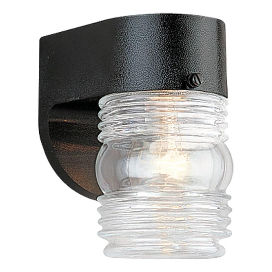 Sea Gull Lighting 6-in H Black Outdoor Wall Light
