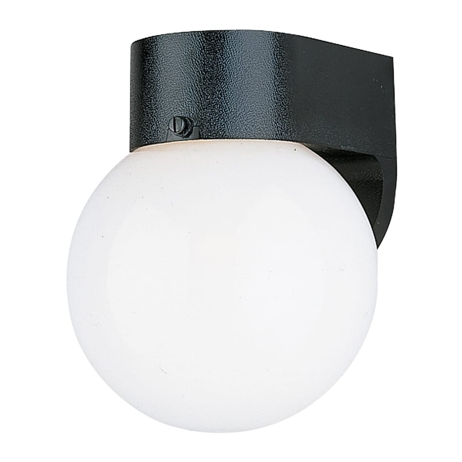 Sea Gull Lighting 7.25-in H Black Outdoor Wall Light