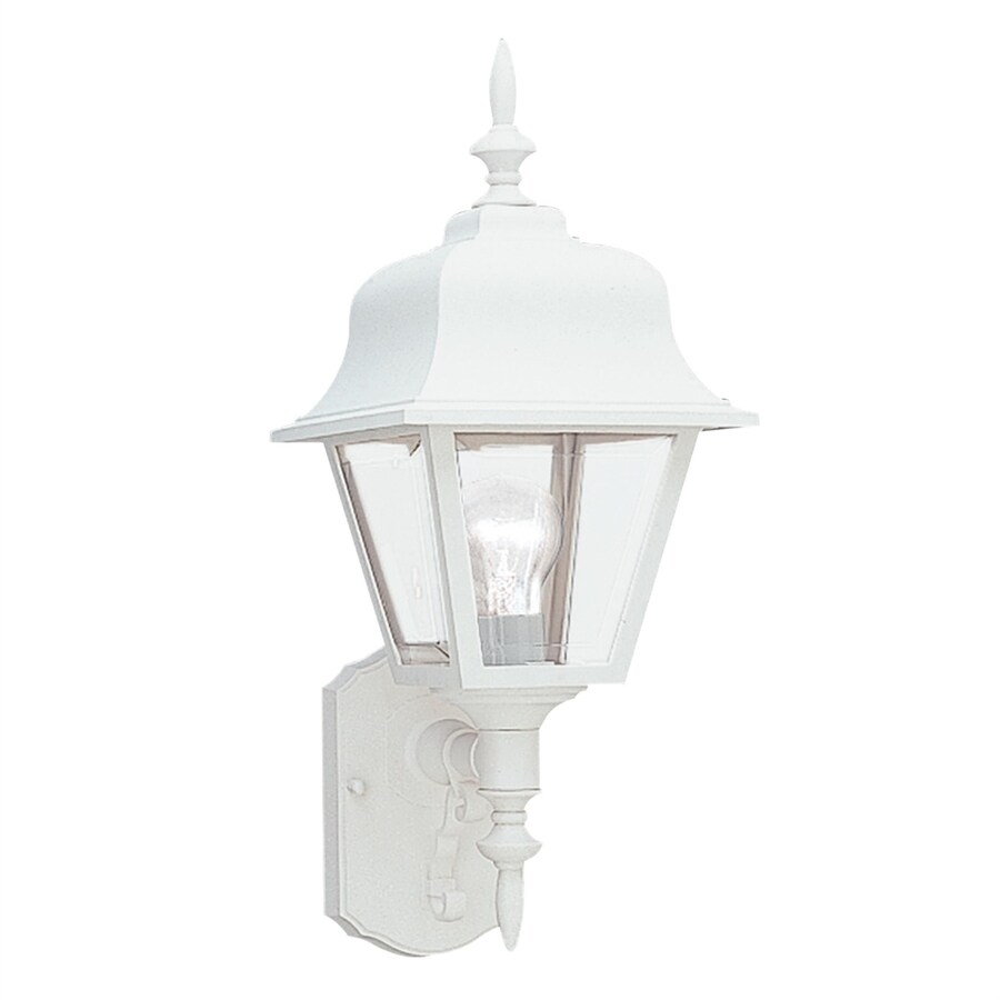 Sea Gull Lighting 25-in H White Outdoor Wall Light