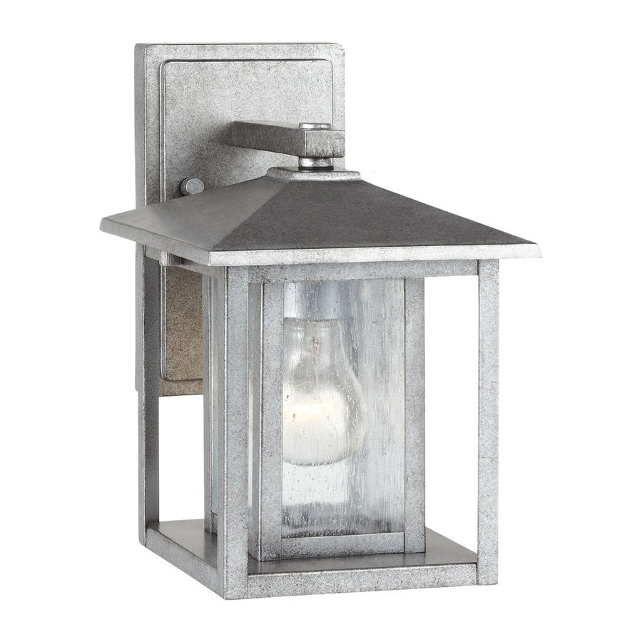 Sea Gull Lighting Hunnington 11-in H Weathered Pewter Outdoor Wall Light